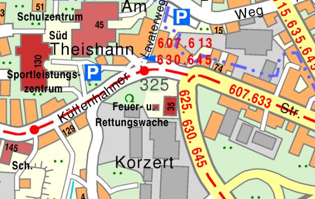 Das Gerätehaus der Freiwilligen Feuerwehr Wuppertal-Hahnerberg liegt an der Theishahner Straße 35