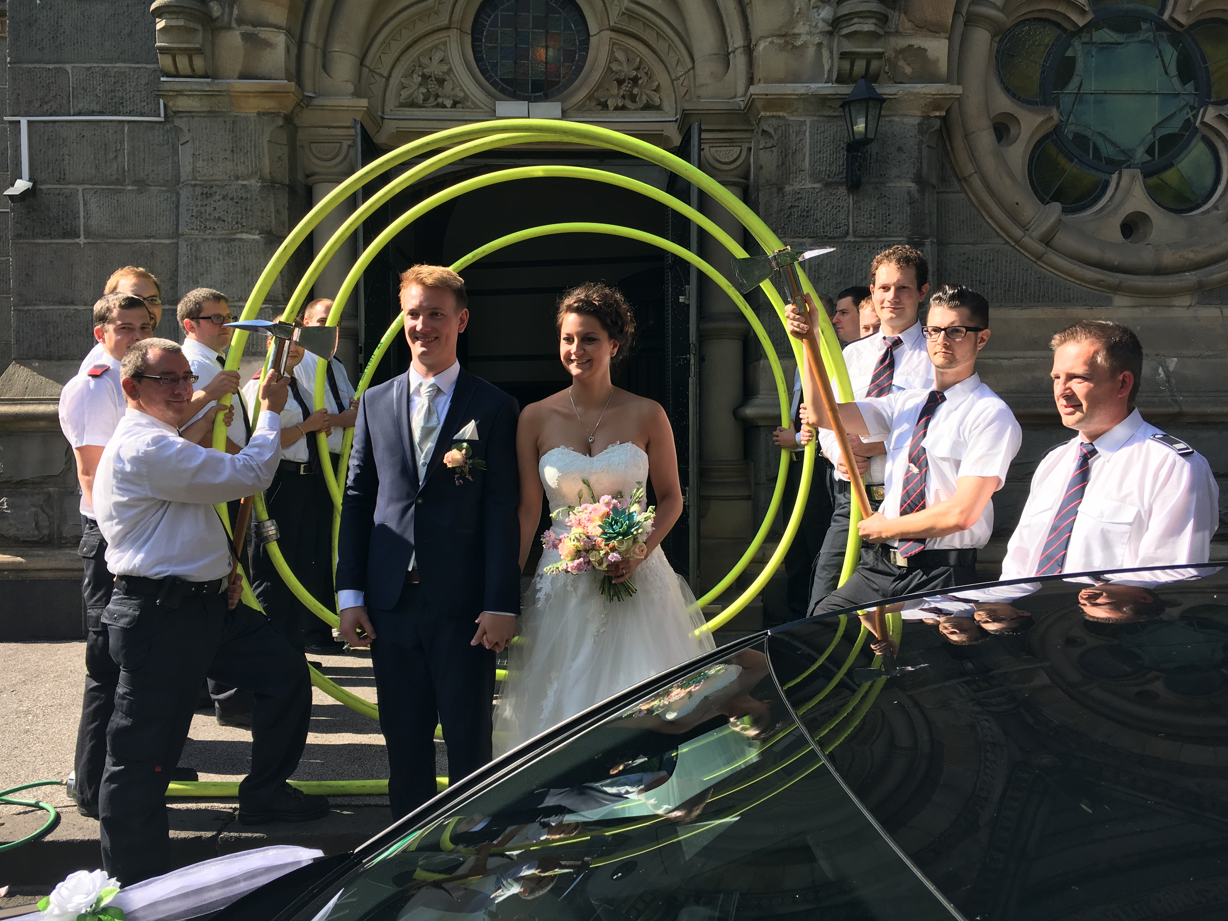 Hochzeit eines Feuerwehrkameraden